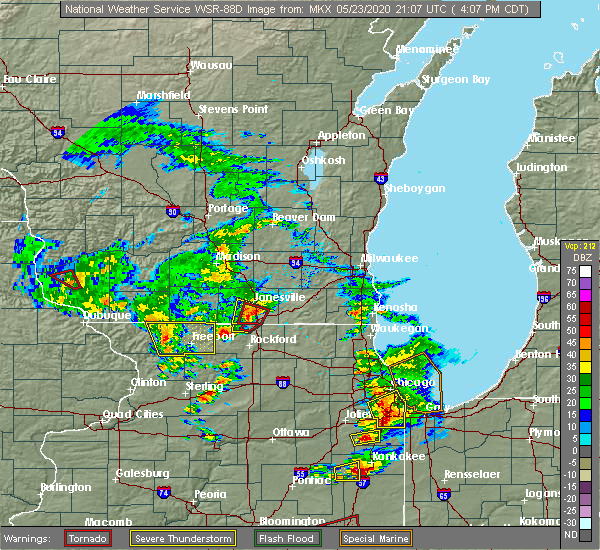 Radar Image for Severe Thunderstorms near Rockton, IL at 5/23/2020 4:13 PM CDT