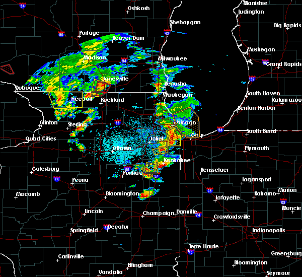 Radar Image for Severe Thunderstorms near Oak Forest, IL at 5/23/2020 4:15 PM CDT