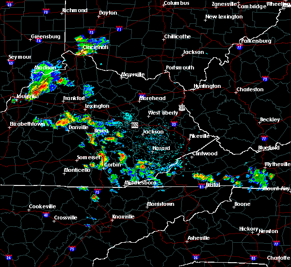 Radar Image for Severe Thunderstorms near Oneida, KY at 5/23/2020 5:16 PM EDT