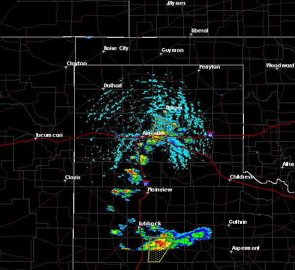 Radar Image for Severe Thunderstorms near Panhandle, TX at 5/23/2020 4:17 PM CDT
