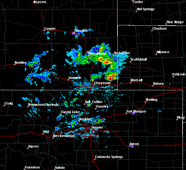 Radar Image for Severe Thunderstorms near Albin, WY at 5/23/2020 3:18 PM MDT