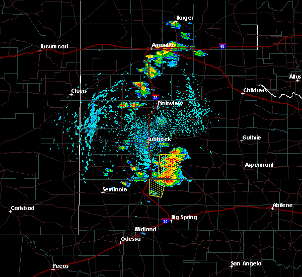 Radar Image for Severe Thunderstorms near Post, TX at 5/23/2020 4:18 PM CDT