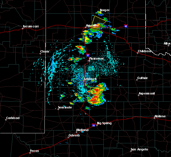 Radar Image for Severe Thunderstorms near Hart, TX at 5/23/2020 4:22 PM CDT