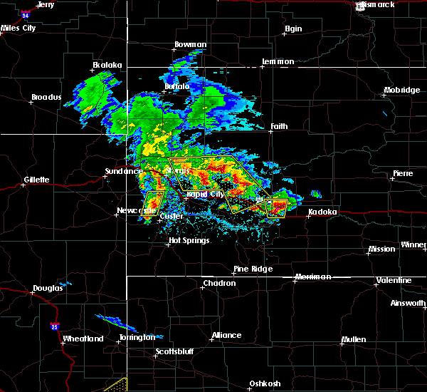 Radar Image for Severe Thunderstorms near Wall, SD at 5/23/2020 3:23 PM MDT