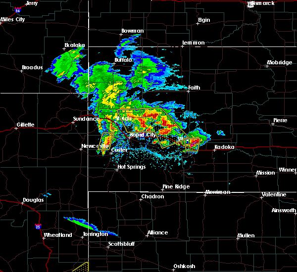 Radar Image for Severe Thunderstorms near Cottonwood, SD at 5/23/2020 3:29 PM MDT