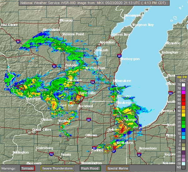 Radar Image for Severe Thunderstorms near Lake Summerset, IL at 5/23/2020 4:32 PM CDT