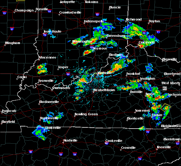 Radar Image for Severe Thunderstorms near Brownstown, IN at 5/23/2020 5:36 PM EDT