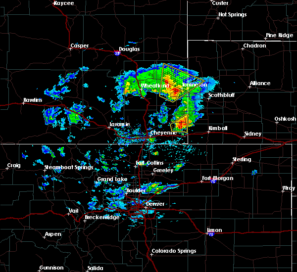 Radar Image for Severe Thunderstorms near Fort Laramie, WY at 5/23/2020 3:38 PM MDT