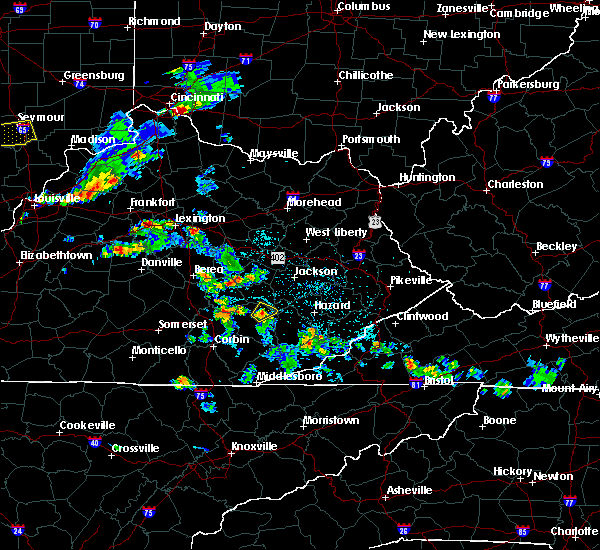 Radar Image for Severe Thunderstorms near Oneida, KY at 5/23/2020 5:39 PM EDT