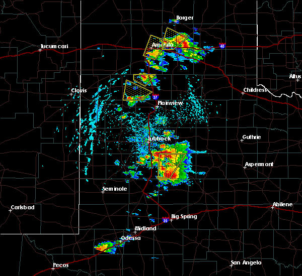 Radar Image for Severe Thunderstorms near Post, TX at 5/23/2020 4:44 PM CDT