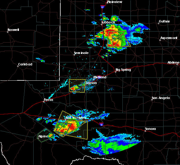 Radar Image for Severe Thunderstorms near Odessa, TX at 5/23/2020 4:44 PM CDT