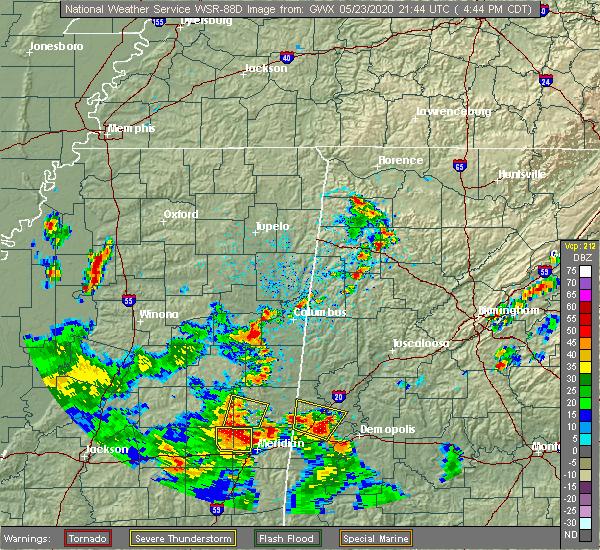 Radar Image for Severe Thunderstorms near Bellamy, AL at 5/23/2020 4:47 PM CDT
