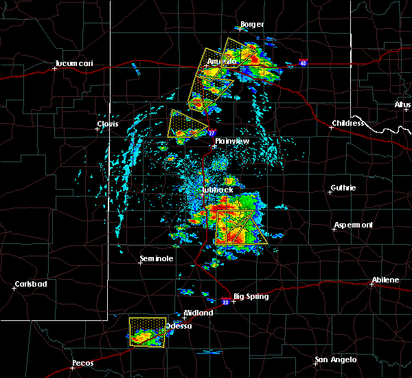 Radar Image for Severe Thunderstorms near New Deal, TX at 5/23/2020 4:48 PM CDT