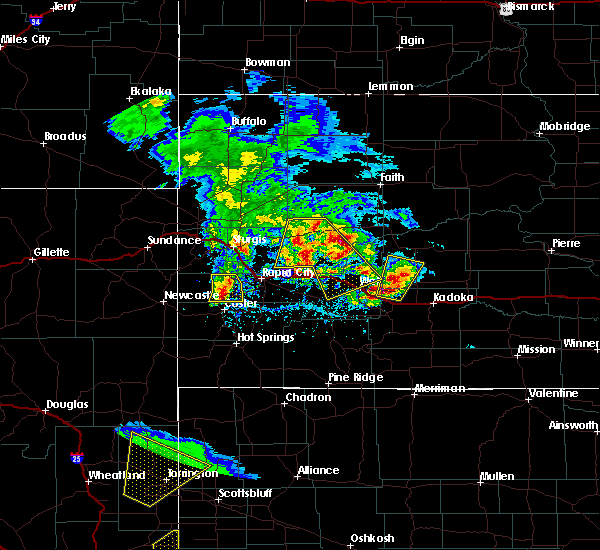 Radar Image for Severe Thunderstorms near Wall, SD at 5/23/2020 3:50 PM MDT