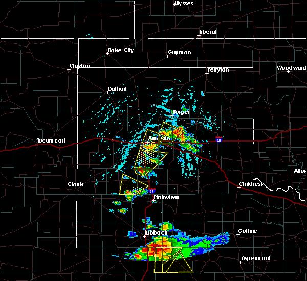 Radar Image for Severe Thunderstorms near White Deer, TX at 5/23/2020 4:49 PM CDT