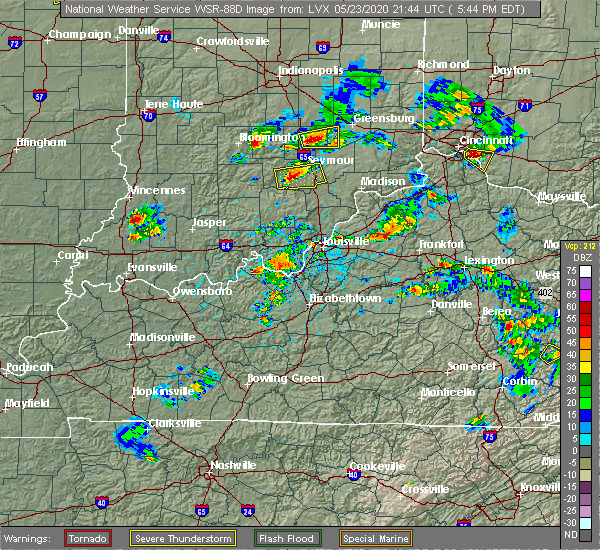 Radar Image for Severe Thunderstorms near Brownstown, IN at 5/23/2020 5:52 PM EDT