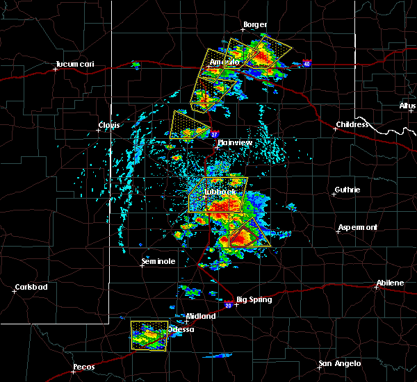 Radar Image for Severe Thunderstorms near Post, TX at 5/23/2020 4:54 PM CDT