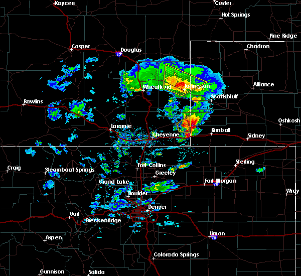 Radar Image for Severe Thunderstorms near Albin, WY at 5/23/2020 3:57 PM MDT