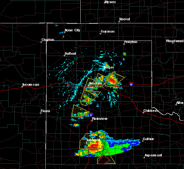 Radar Image for Severe Thunderstorms near Panhandle, TX at 5/23/2020 4:59 PM CDT