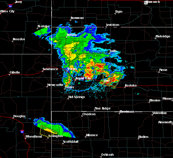 Radar Image for Severe Thunderstorms near Wall, SD at 5/23/2020 4:10 PM MDT
