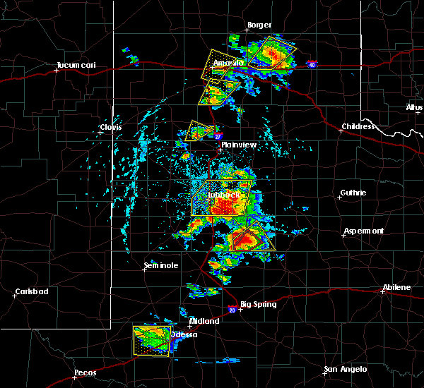 Radar Image for Severe Thunderstorms near New Deal, TX at 5/23/2020 5:10 PM CDT
