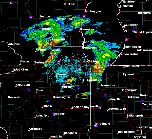 Radar Image for Severe Thunderstorms near Chesterton, IN at 5/23/2020 5:12 PM CDT