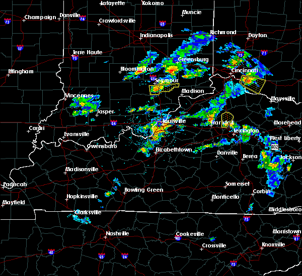 Radar Image for Severe Thunderstorms near Hunters Hollow, KY at 5/23/2020 6:18 PM EDT