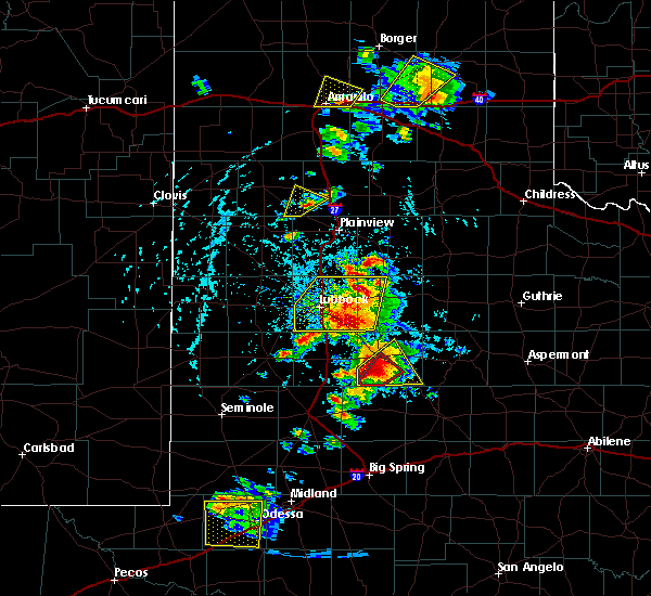 Radar Image for Severe Thunderstorms near Post, TX at 5/23/2020 5:19 PM CDT
