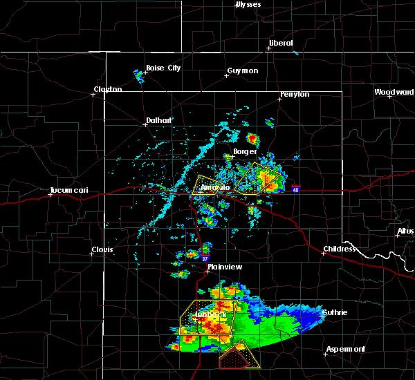 Radar Image for Severe Thunderstorms near White Deer, TX at 5/23/2020 5:25 PM CDT