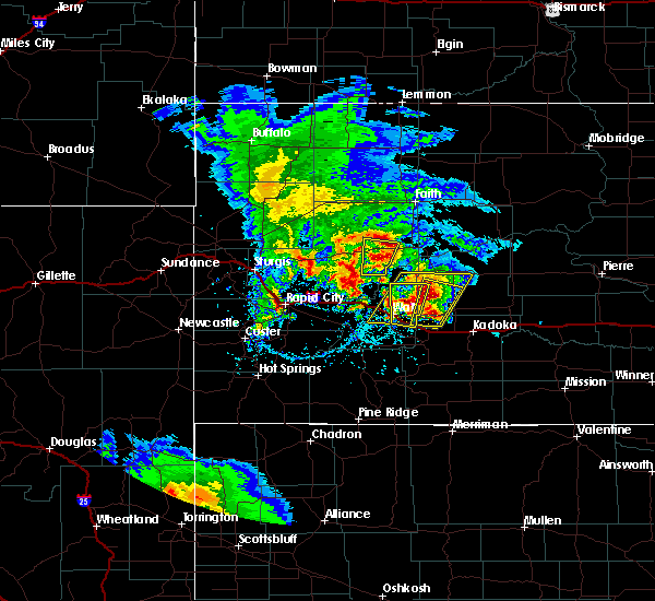 Radar Image for Severe Thunderstorms near Cottonwood, SD at 5/23/2020 4:29 PM MDT