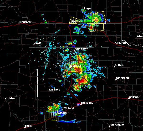 Radar Image for Severe Thunderstorms near New Deal, TX at 5/23/2020 5:29 PM CDT