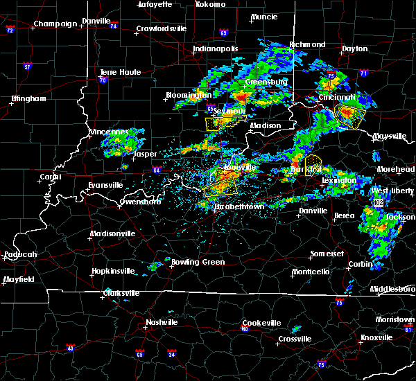 Radar Image for Severe Thunderstorms near Hunters Hollow, KY at 5/23/2020 6:31 PM EDT