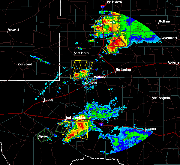 Radar Image for Severe Thunderstorms near Gardendale, TX at 5/23/2020 5:32 PM CDT