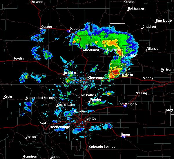 Radar Image for Severe Thunderstorms near Harrisburg, NE at 5/23/2020 4:34 PM MDT