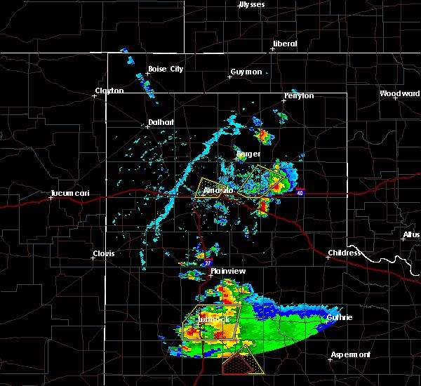 Radar Image for Severe Thunderstorms near Howardwick, TX at 5/23/2020 5:36 PM CDT