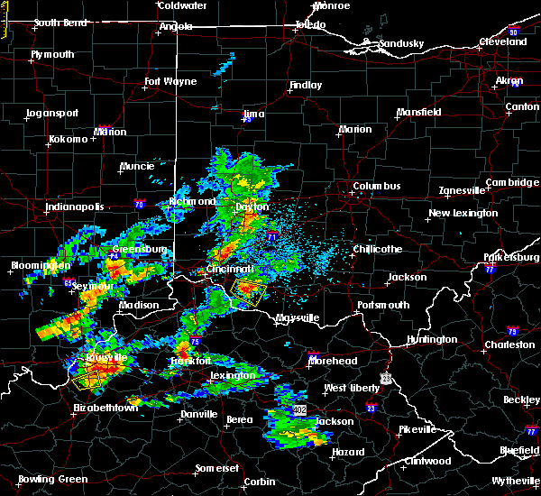 Radar Image for Severe Thunderstorms near Hamersville, OH at 5/23/2020 6:41 PM EDT