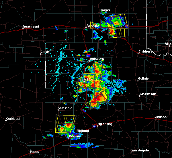 Radar Image for Severe Thunderstorms near New Deal, TX at 5/23/2020 5:42 PM CDT