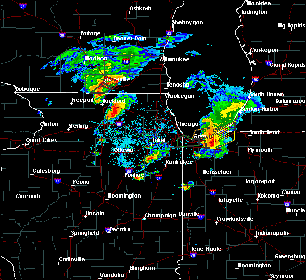 Radar Image for Severe Thunderstorms near Valparaiso, IN at 5/23/2020 5:45 PM CDT