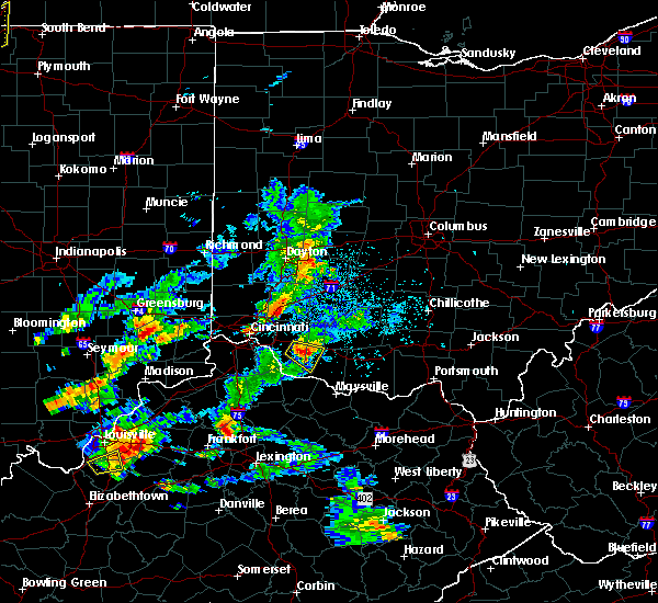 Radar Image for Severe Thunderstorms near Hamersville, OH at 5/23/2020 6:46 PM EDT