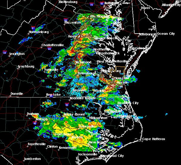 Radar Image for Severe Thunderstorms near Hanover, VA at 6/27/2015 3:45 PM EDT