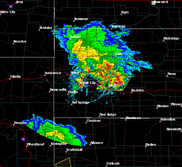 Radar Image for Severe Thunderstorms near Cottonwood, SD at 5/23/2020 4:54 PM MDT