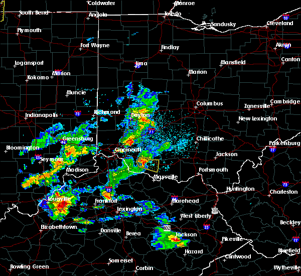 Radar Image for Severe Thunderstorms near Hamersville, OH at 5/23/2020 6:56 PM EDT