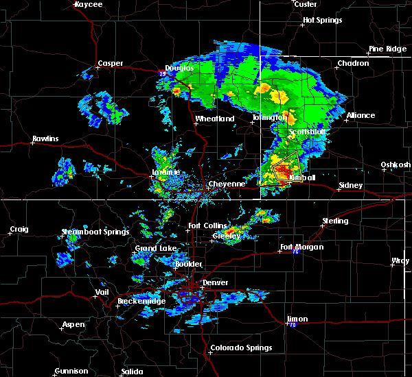Radar Image for Severe Thunderstorms near Harrisburg, NE at 5/23/2020 4:58 PM MDT
