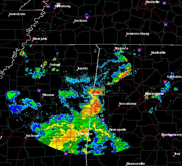 Radar Image for Severe Thunderstorms near Carrollton, AL at 5/23/2020 6:01 PM CDT