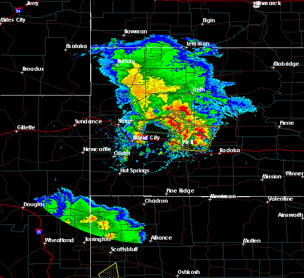 Radar Image for Severe Thunderstorms near Cottonwood, SD at 5/23/2020 5:03 PM MDT