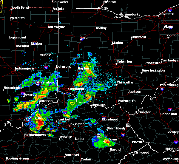 Radar Image for Severe Thunderstorms near Russellville, OH at 5/23/2020 7:06 PM EDT