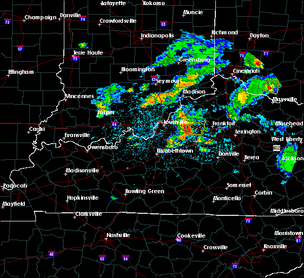 Radar Image for Severe Thunderstorms near Simpsonville, KY at 5/23/2020 7:11 PM EDT