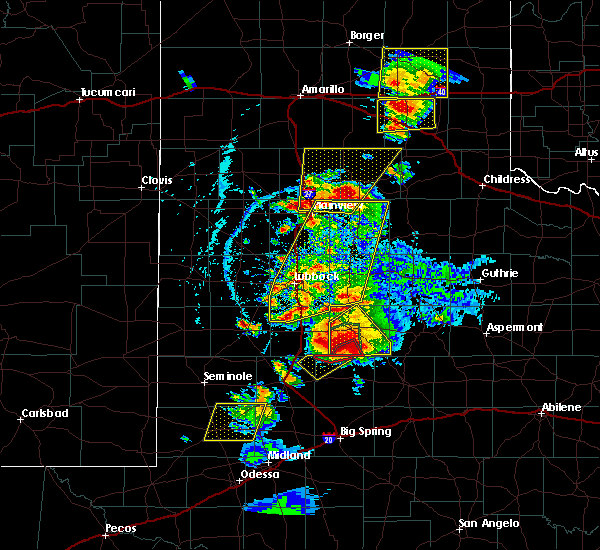 Radar Image for Severe Thunderstorms near New Deal, TX at 5/23/2020 6:17 PM CDT