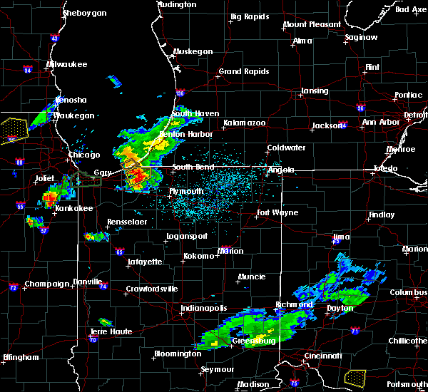 Radar Image for Severe Thunderstorms near Fish Lake, IN at 5/23/2020 6:18 PM CDT