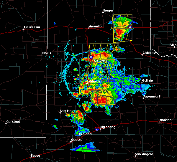 Radar Image for Severe Thunderstorms near Post, TX at 5/23/2020 6:19 PM CDT